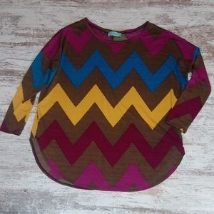Filly Flair Multi Color Aztec Flowy Blouse Top